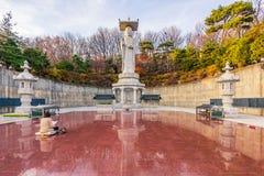Temple de Bongeunsa dans la ville de Séoul, Corée du Sud photos libres de droits