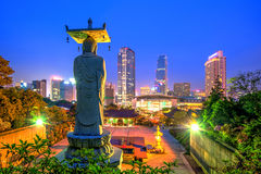 Temple de Bongeunsa en Corée Image stock