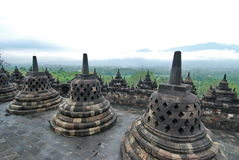 temple de borobodur Photographie stock libre de droits