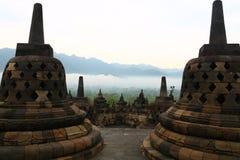 Temple de Borobudor chez Java, Indonésie photos stock