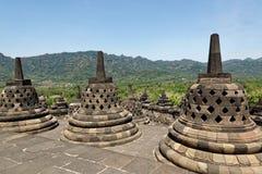 Temple de Borobudur à Yogyakarta, Java, Indonésie Image stock