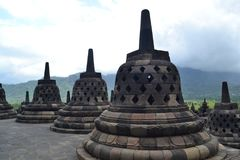 Temple de Borobudur image libre de droits