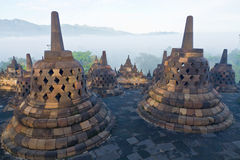 Temple de Borobudur Photo libre de droits