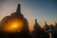 Temple de Borobudur Images libres de droits