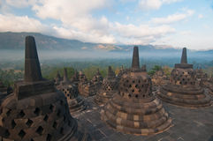 Temple de Borobudur, Java central, Indonésie Photos libres de droits