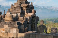 Temple de Borobudur, Java central, Indonésie Photographie stock libre de droits