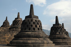 Temple de Borobudur, Java central, Indonésie Photos stock
