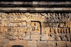 Temple de Borobudur, Java, Indonésie Photos libres de droits