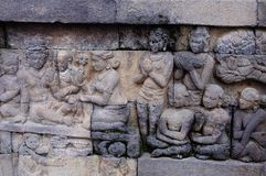 Temple de Borobudur, Java, Indonésie Images libres de droits