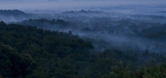 Temple de Borobudur pendant le matin Image libre de droits