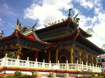 Temple de Bouddha, Bintulu, Sarawak, île du Bornéo image stock