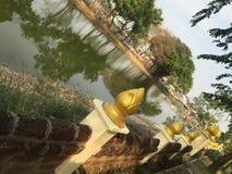 Temple de Bouddha de dimanche en Thaïlande Photo stock