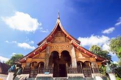 Temple de Buddish autour du Laos image libre de droits