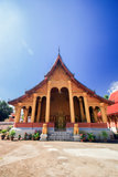 Temple de Buddish autour du Laos photographie stock libre de droits