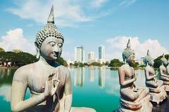 Temple de Budhist à Colombo Photographie stock libre de droits