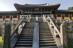 Temple de Bulguksa, Corée du Sud Images libres de droits