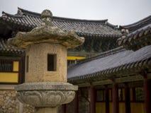 Temple de Bulguksa dans Gyeongju, Corée du Sud Images stock