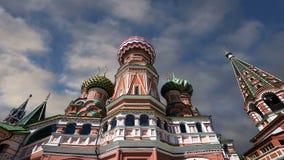 Temple de cathédrale de Basil de saint de Basil la place bénie et rouge, Moscou, Russie clips vidéos