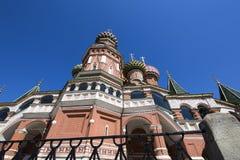 Temple de cathédrale de Basil de saint de Basil la place bénie et rouge, Moscou, Russie images stock