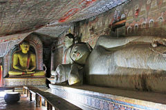 Temple de caverne de Dambulla - patrimoine mondial de l'UNESCO de Sri Lanka Photo stock
