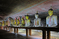 Temple de caverne de Dambulla - patrimoine mondial de l'UNESCO de Sri Lanka Photos libres de droits