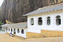 Temple de caverne de Dambulla - patrimoine mondial de l'UNESCO de Sri Lanka Images libres de droits