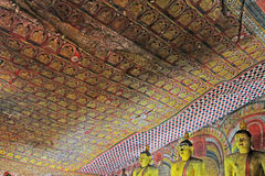 Temple de caverne de Dambulla - patrimoine mondial de l'UNESCO de Sri Lanka Photo libre de droits