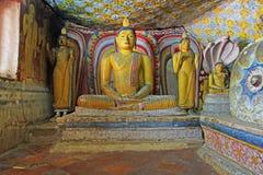 Temple de caverne de Dambulla - patrimoine mondial de l'UNESCO de Sri Lanka Photographie stock