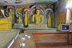 Temple de caverne de Dambulla - patrimoine mondial de l'UNESCO de Sri Lanka Image libre de droits