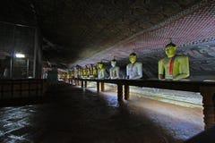 Temple de caverne de Dambulla - patrimoine mondial de l'UNESCO de Sri Lanka Photos stock