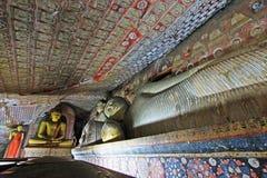 Temple de caverne de Dambulla - patrimoine mondial de l'UNESCO de Sri Lanka Images stock