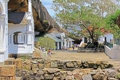 Temple de caverne de Dambulla - patrimoine mondial de l'UNESCO de Sri Lanka Image stock