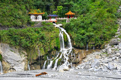 Temple de Changuang en parc de Taroko photographie stock libre de droits