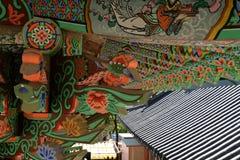 Temple de Cheonchuksa, parc national de Dobongsan, Séoul, Corée photographie stock libre de droits