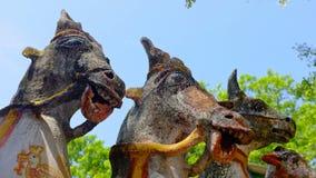 Temple de cheval, Tamil Nadu, Inde Photo libre de droits