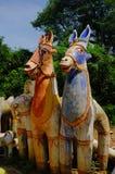 Temple de cheval, Tamil Nadu, Inde Photos libres de droits