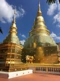 Temple de Chiang Mai. Temple Thaïlande gold stock photos
