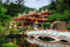 Temple de Chinois de Fu Lin Kong Photos stock