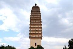 Temple de Chongshen et trois pagodas en Dali La Chine La Chine Photo libre de droits