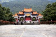Temple de Chongshen et trois pagodas en Dali La Chine La Chine Photos stock