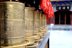 Temple de Chongshen et trois pagodas en Dali La Chine La Chine Photographie stock libre de droits