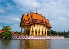 Temple de complexe de Wat Plai Laem Photographie stock