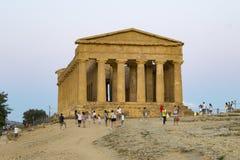 Temple de Concordia Photo stock