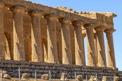 Temple de Concordia, c'est le plus grand et meilleur-préservé temple dorique en Sicile, Agrigente, Italie image libre de droits