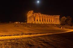 Temple de Concordia en parc archéologique d'Agrigente Image libre de droits