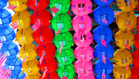 Temple de Coréen de décorations d'éclairage Image libre de droits