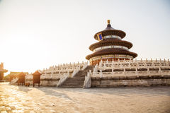 Temple de coucher du soleil Images libres de droits