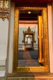 Temple de coucher du soleil de Wat Pho, Bangkok en Thaïlande Images stock