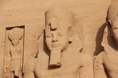 Temple de détail de Rameses II Abu Simbel, Egypte images libres de droits