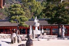 Temple de Daiganji, Itsukushima, Japon photos libres de droits